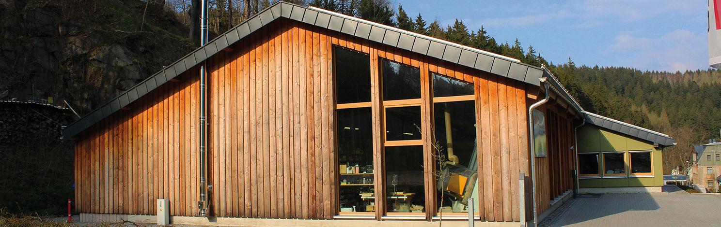 Ansicht von außen - Holzwerkstatt der Möbeltischlerei von Tischlermeister Trommer