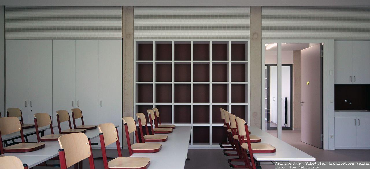 Möbel, Bestuhlung und Innenausbau Unterrichtsraum Grundschule