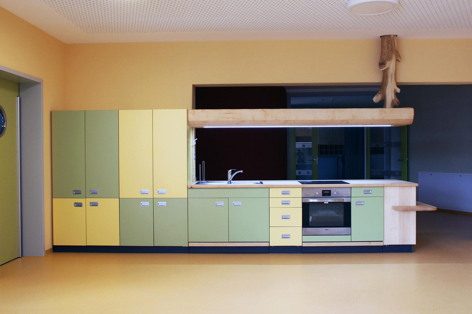 Foto Kücheneinrichtung Holz Ansicht von vorn