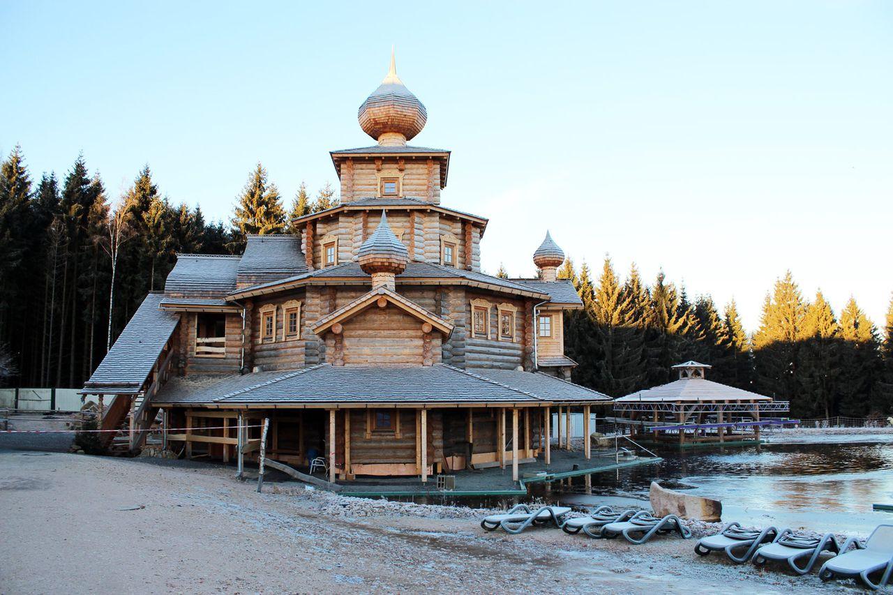 Foto - Eventsaune in Badegärten Eibenstock - Arbeit der Möbeltischlerei Holzwerkstatt Trommer Schönheide